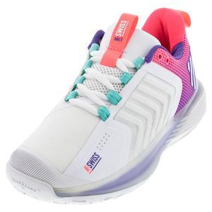 Women`s Ultrashot 3 LE Tennis Shoes White and Liberty