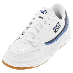 Unisex 88 110 Low Top Tennis Shoes White and Fila Navy