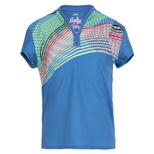 Girls` Count On Me Short Sleeve Tennis Top Bluemarine