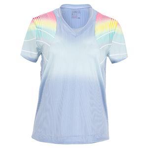 Women`s Count On Me Short Sleeve Tennis Top Bluemarine