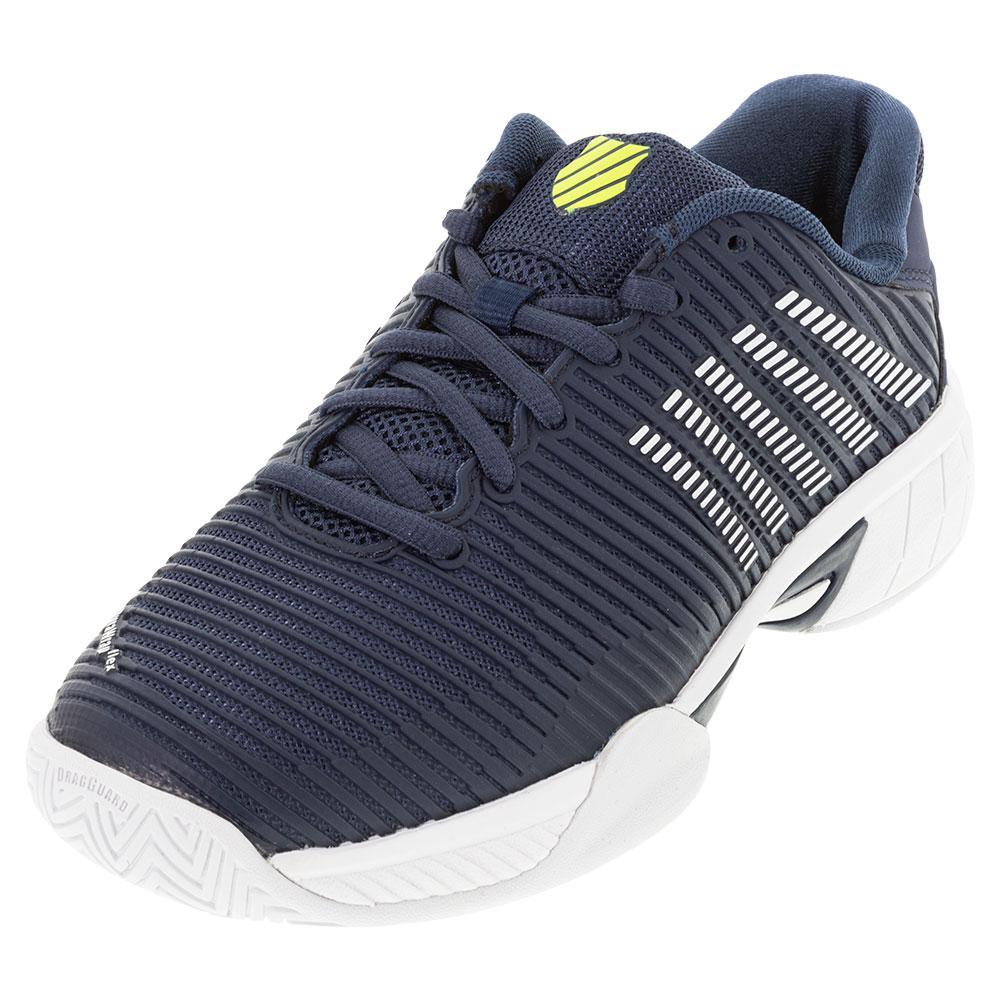 Juniors ` Hypercourt Express 2 Tennis Shoes Moonlit Ocean And White