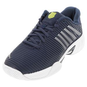 Juniors` Hypercourt Express 2 Tennis Shoes Moonlit Ocean and White