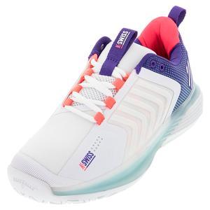 Men`s Ultrashot 3 LE Tennis Shoes White and Liberty