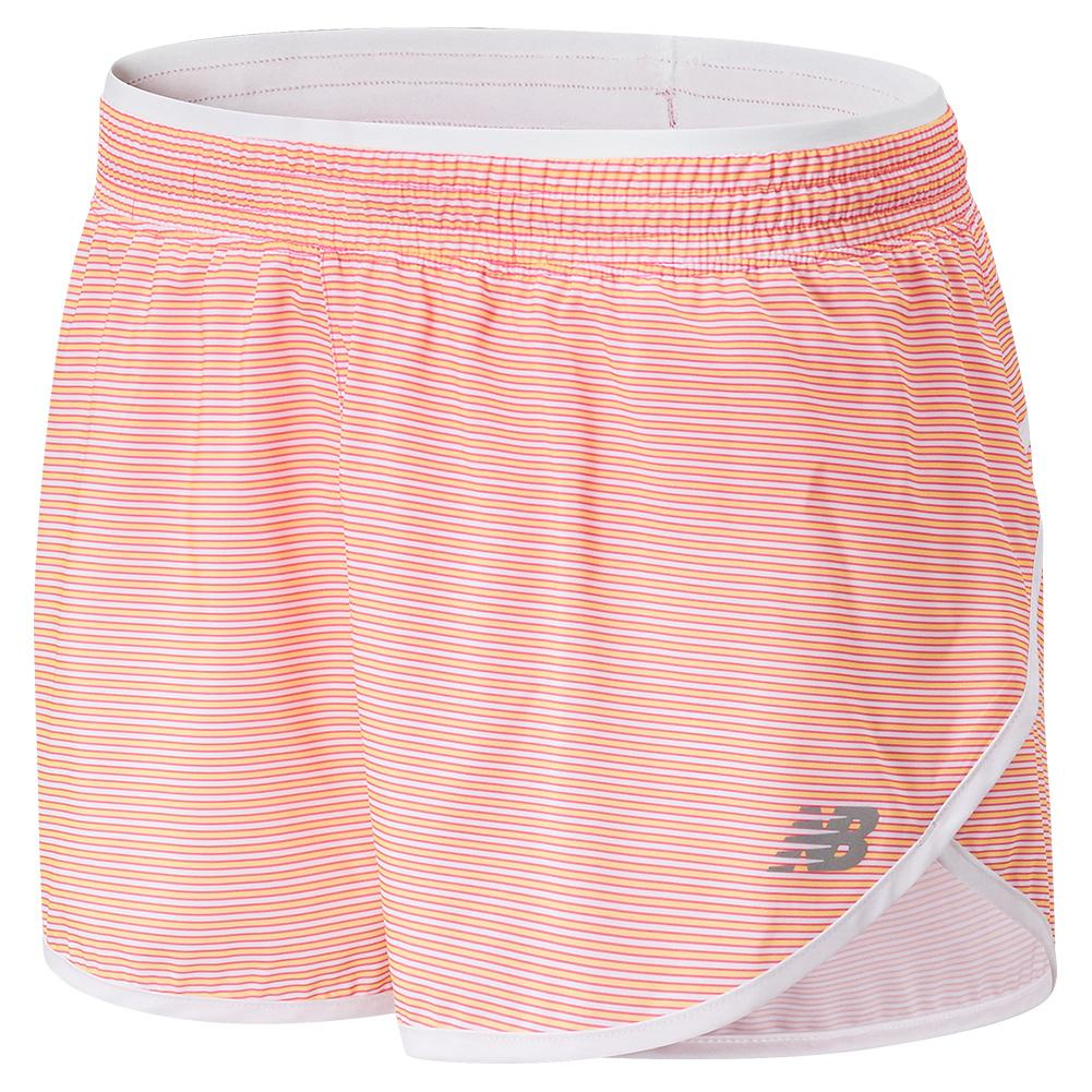 Women's Accelerate Printed 2.5 Inch Short Pink And White