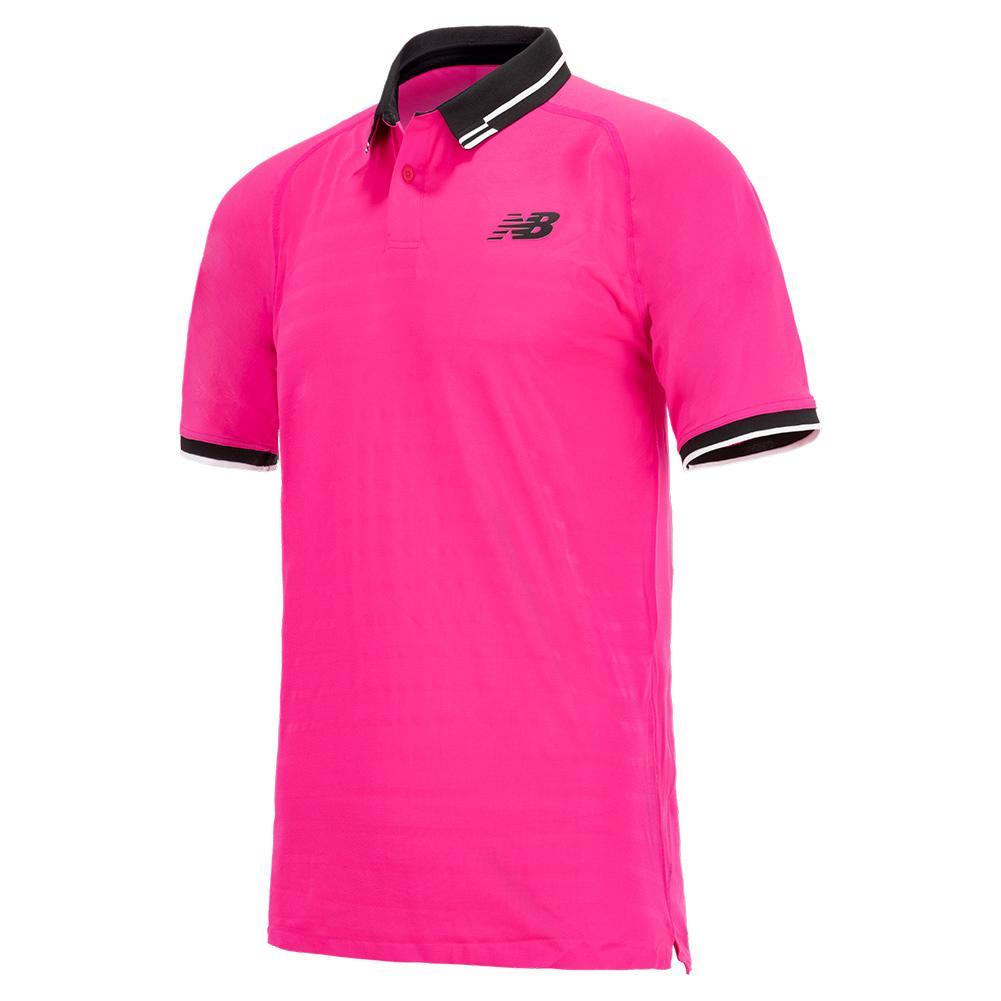 Men's Tournament Tennis Polo Pink Glo