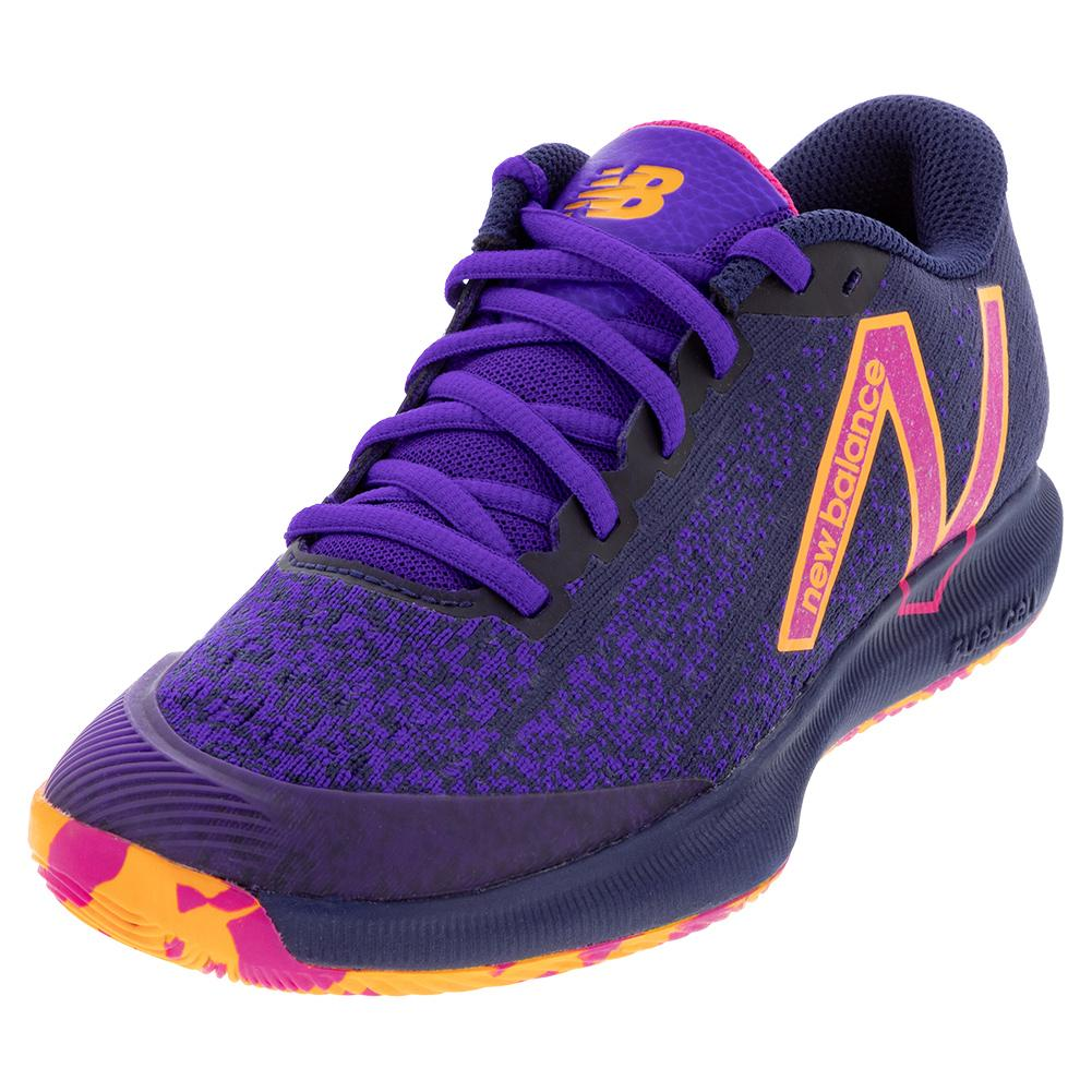Women's Fuelcell 996v4.5 B Width Tennis Shoes Black And Deep Violet