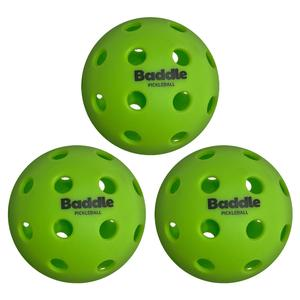 40 Hole Outdoor Baddle Pickleballs 3-Pack Green
