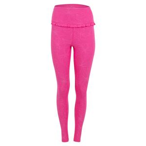 Women`s Divine Ruffle Tennis Legging Disco Pink in Florals