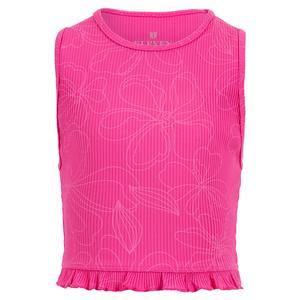 Women`s Divine Yoga Tennis Tank Top Disco Pink in Florals