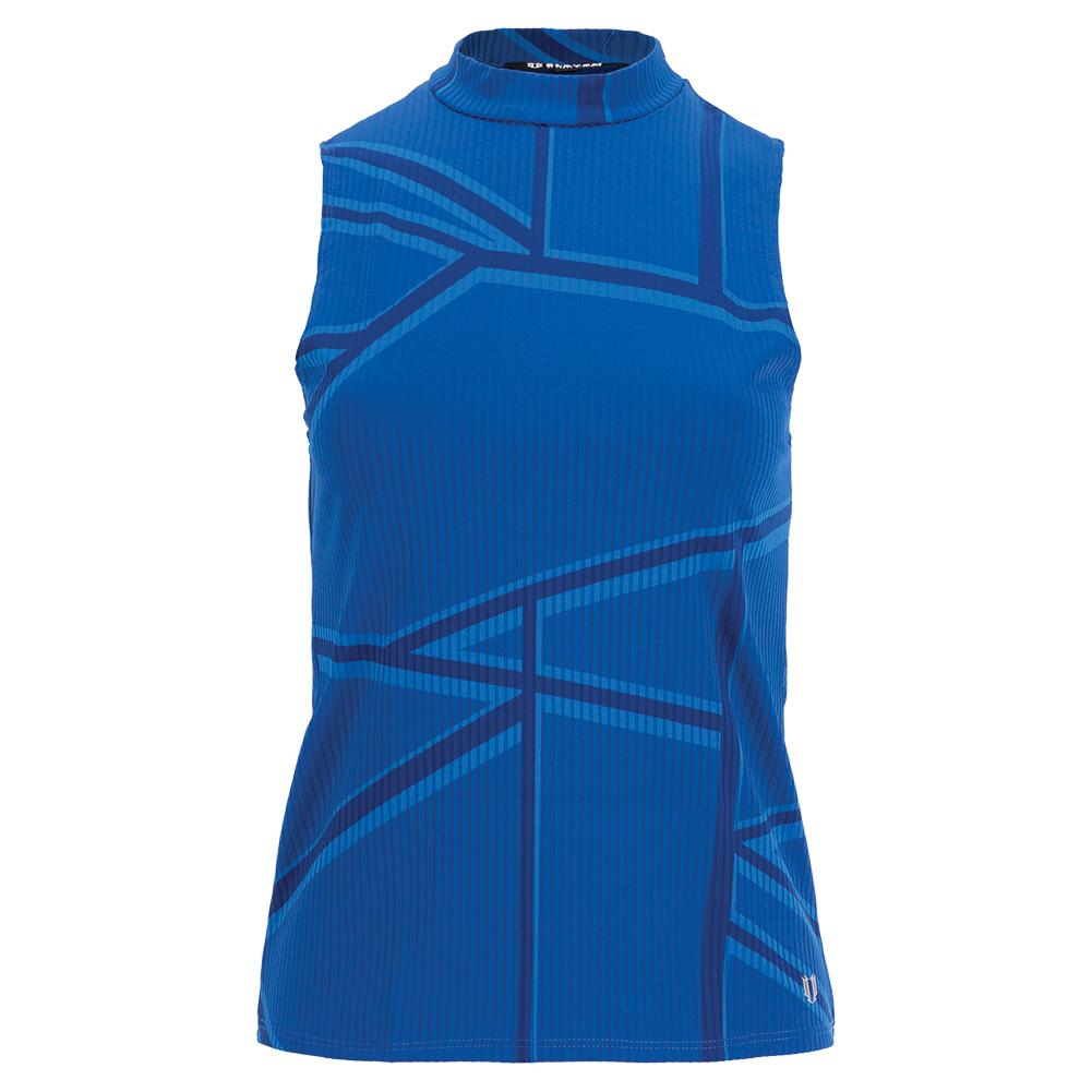 Women's Studio 54 Mock Tennis Tank Top Electric Blue