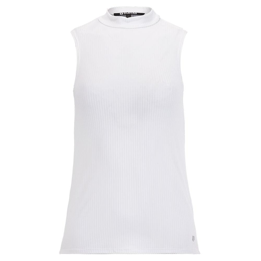 Women's Studio 54 Mock Tennis Top Bright White