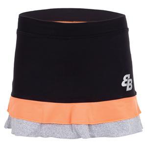 Women`s Jalena Tennis Skort Orange and Black