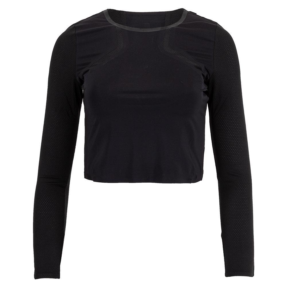 Women's Uplift Long Sleeve Performance Crop Top Black