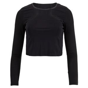 Women`s Uplift Long Sleeve Performance Crop Top Black