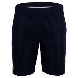 Men`s Side Panel Taffetas Tennis Short Navy Blue