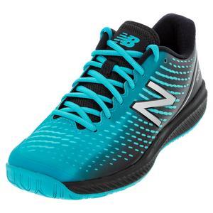 Men`s 796v2 4E Width Tennis Shoes Virtual Sky and Black