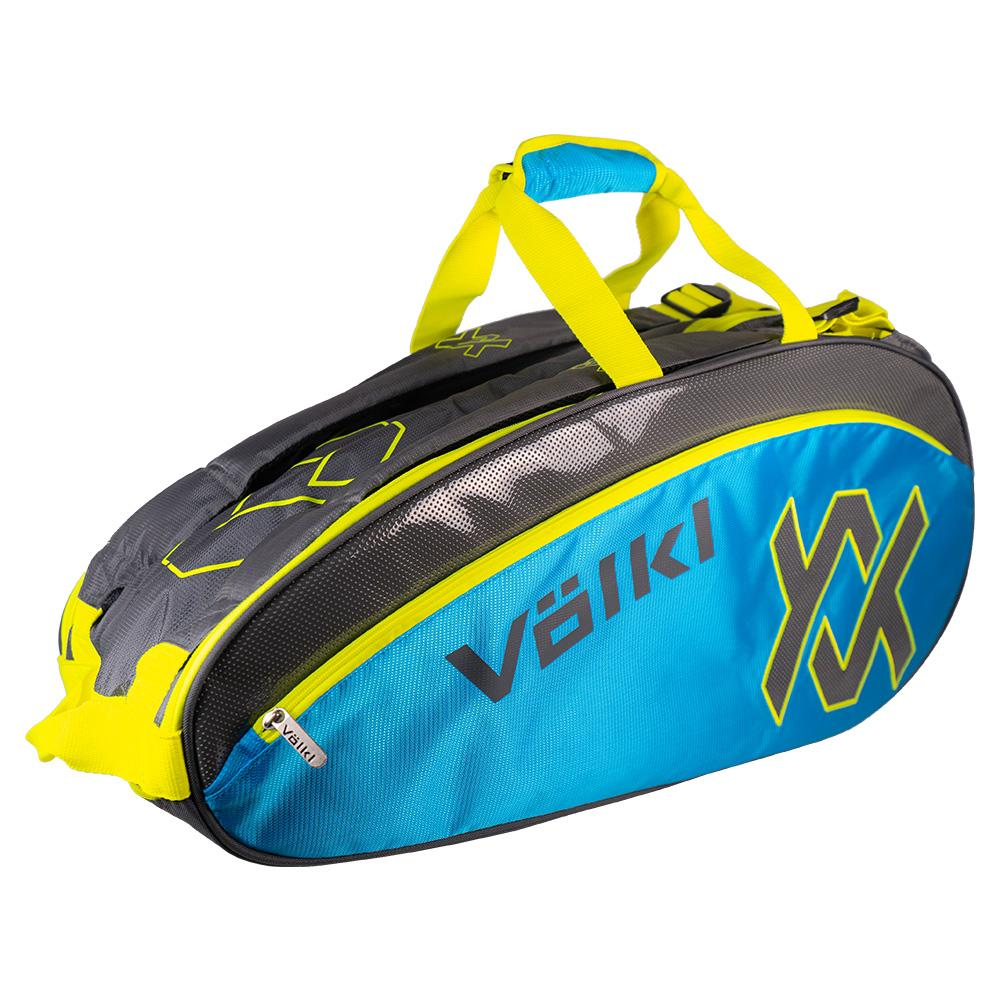 Tour Combi Tennis Bag Charcoal And Neon Blue