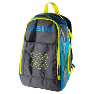 Tour Tennis Backpack Charcoal and Neon Blue