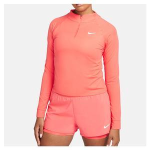 Women`s Court Dri-FIT Victory Long-Sleeve 1/2-Zip Tennis Top