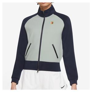 Women`s Court Full-Zip Tennis Jacket Obsidian and Grey Haze