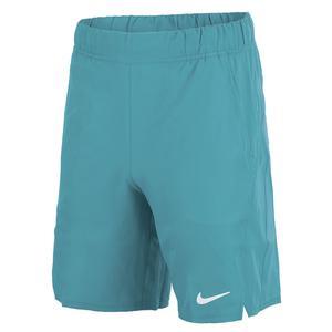 Men`s Court Dri-FIT Victory 9 Inch Tennis Shorts Riftblue and White