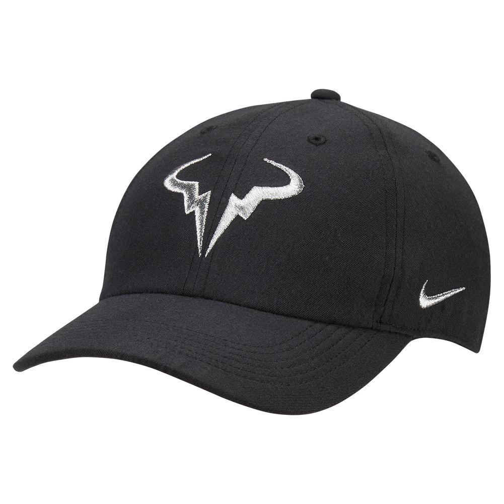 Rafa Aerobill H86 Tennis Cap Black And Metallic Silver