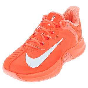 Women`s Naomi Osaka Court Air Zoom GP Turbo Tennis Shoes Total Orange and White
