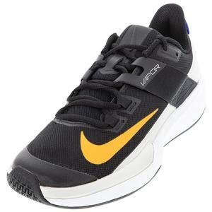 Men`s Vapor Lite Tennis Shoes Black and Sunset