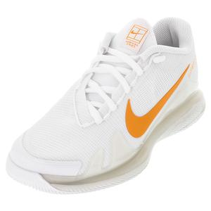 Women`s Court Air Zoom Vapor Pro Tennis Shoes White and Sunset