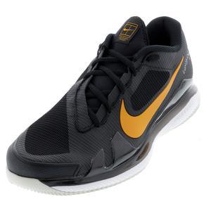 Men`s Air Zoom Vapor Pro Tennis Shoes Black and Sunset