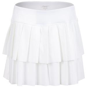 Women`s Layered Pleat Tennis Skort White