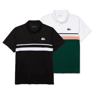 Men`s Color Block Tennis Polo