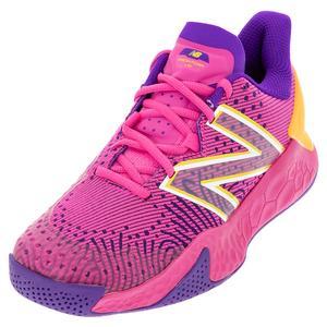 Women`s Fresh Foam Lav V2 D Width Tennis Shoes Pink Glo and Deep Violet