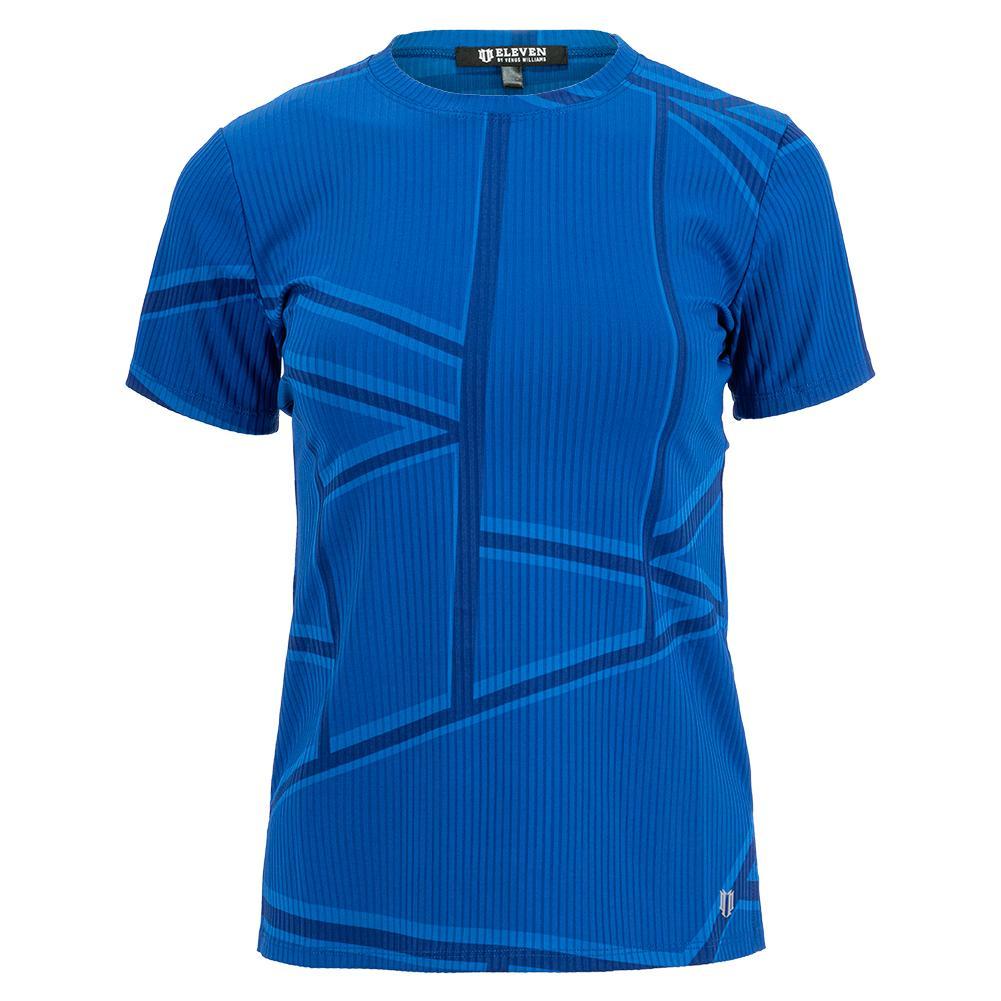 Women's Love To Love Rib Tennis Top Electric Blue