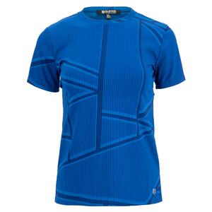 Women`s Love to Love Rib Tennis Top Electric Blue