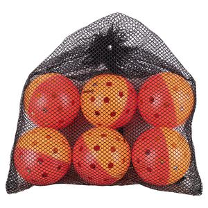 Outdoor Pickleball Training Balls Bag of 6 Red and Orange