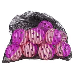 Indoor Pickleball Training Balls Dozen Purple and Pink