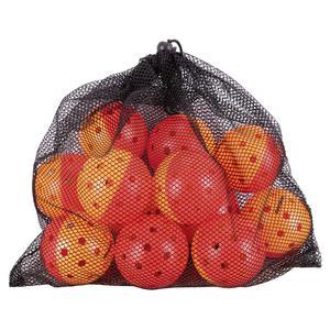Outdoor Pickleball Training Balls Dozen Red and Orange