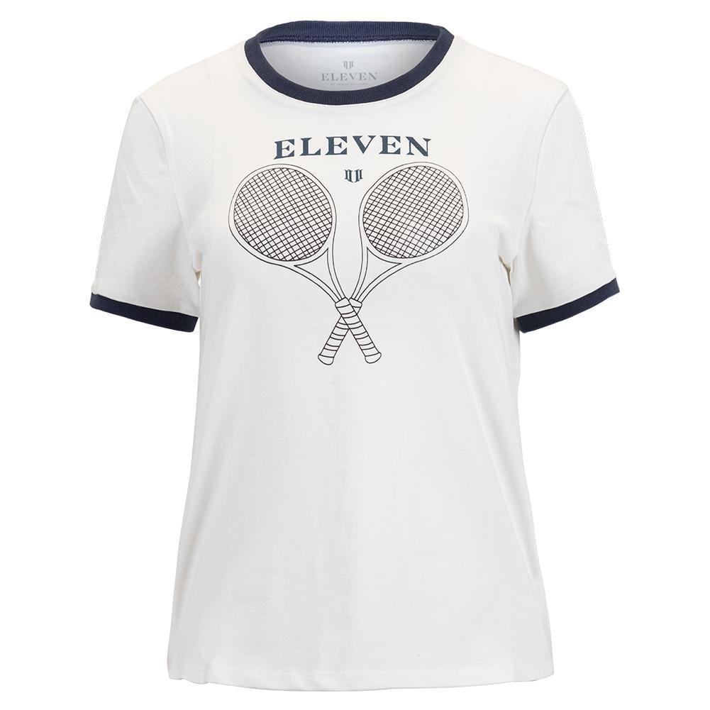 Women's Eleven Ringer Tennis Tee Vintage White