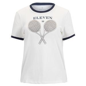 Women`s Eleven Ringer Tennis Tee Vintage White