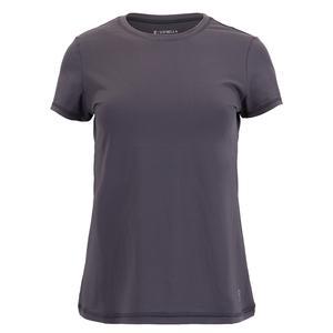 Women`s UV Colors Short Sleeve Tennis Top Grey