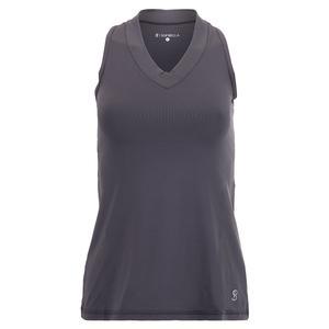 Women`s UV Colors Racerback Tennis Tank Grey