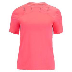 Women`s Miesha Short Sleeve Tennis Top Electric Pink