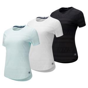 Women`s Q Speed Jacquard Short Sleeve Top