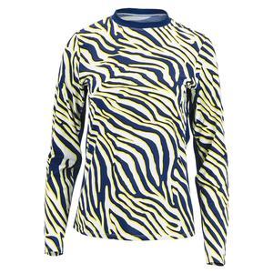 Women`s Petrina Long Sleeve Tennis Top Lemon Zebra