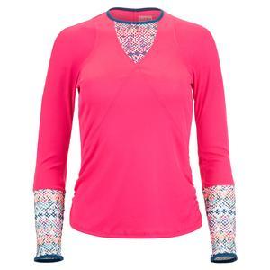 Women`s Think Ink Long Sleeve Tennis Top Shocking Pink