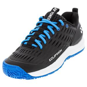 Men`s Power Cushion Eclipsion 3 Tennis Shoes Black and Blue