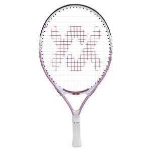 Juniors` Revolution 21 Prestrung Tennis Racquet White and Fuchsia