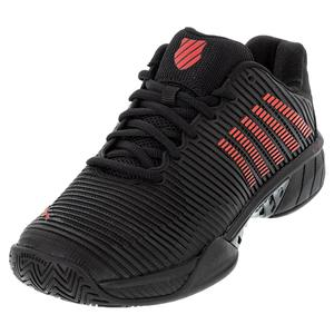 Men`s Hypercourt Express 2 Tennis Shoes Black and Poppy Red