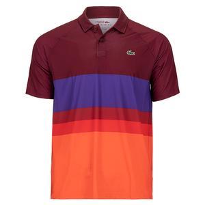 Men`s Novak Djokovic Ombre Color Block Tennis Polo